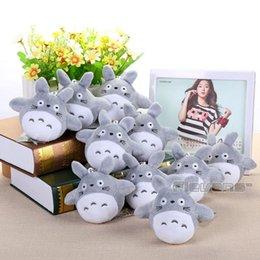 "Wholesale Soft Mini Dolls - 4"" 10cm My Neighbor Totoro Cat Buss Mini Plush Toys Soft Stuffed Dolls 10pcs lot ANPT387 160321#"