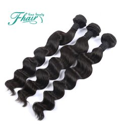 2017 22 pouces extensions de cheveux longueur 8A Traitements brésiliens extensions de cheveux extensions profondes 3 lots / poils de cheveux humains 10-30