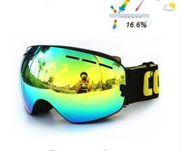 2016 ski goggles double anti-fog UV400 big ski mask goggles ski snowboard men women snow goggles the GOG-201