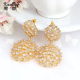 Wholesale Korea fashion women s Diamond Earrings Crystal Earrings carat gold colored gemstone earrings jewelry