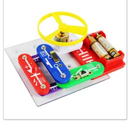 Wholesale concrete blocks snap circuit electronic discover kit Practical electronic circuit building blocks toys Educational Appliance Assembling Toy