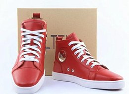 Compra Online Altos tops hombres 45-2016 Primavera Otoño Patrón Snakeskin Lace Up Alto Top Zapatos Hombres Negro / Rojo Tacones Zapatillas Hombre Tamaño 45