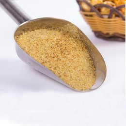 Wholesale 100pcs inch Stainless Steel Flour Shovel Ice Scoop Dry Goods Shovel Candy Shovel Kitchen Coffee Baking Tools ZA0394