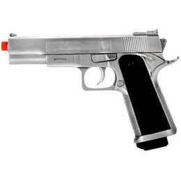 UKARMS M 1911 SPRING AIRSOFT FULL SIZE PISTOL HAND GUN AIR w  6mm BB BBs Silver