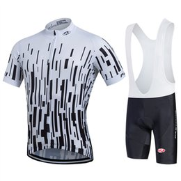 Wholesale Brand New Breathable Cheap Cycling Clothing Short Sleeve Cycling Jerseys Mens Cycling Shorts Bibs Sets White Color Bike Clothes