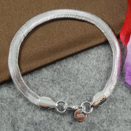 Wholesale 10pcs Silver Bracelet Hot sale Pulseras 925 Sterling Silver Bracelet Fashion Snake Chains bracelets Fashion Bracelets for women