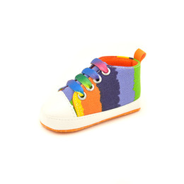 Wholesale Small baby shoes hot spring slip canvas baby step before the year old toddler shoes shoes soft bottom slip shoes