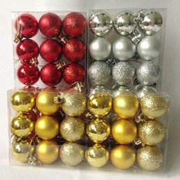 Wholesale Christmas Trees Wholesale For Decor - 18pcs  lot Christmas Tree Decor Ball Bauble Hanging Xmas Party Ornament decorations for Home New Year