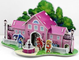 3D three dimensional puzzle, jigsaw puzzle DIY Hot exhibitions. Paper spell drawings model, children's educational toys
