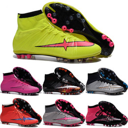 Wholesale Drop Shipping Football Shoes Men Mercurial Superfly AG CR7 Soccer Boots Hot Sale New High Quality Sport Shoes Size