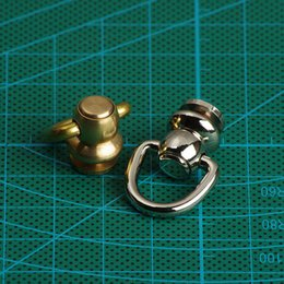 free shipping 6 pieces brass swivels ring lock buckle handmade D ring bag luggage accessories bag hanger diy hardware part