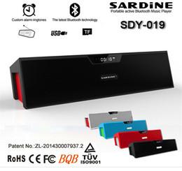 Promotion boîte de haut-parleur de radio Hot Sardine SDY-019 Haut-parleur Bluetooth Wireless Speaker HIFI Haut-parleur portable de haute qualité Musique Surround Sound Box avec Radio FM