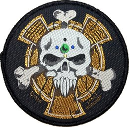 Wholesale Space Marine Crux Terminatus Sergeant Badge Warhammer k Animated Movie TV Series Costume Woven Emblem applique iron on patch