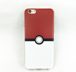 Wholesale Poke Ball Go Transparent Soft TPU Printed Pattren Clear Crystal Case Cover For iphone plus s S MOQ Per Models