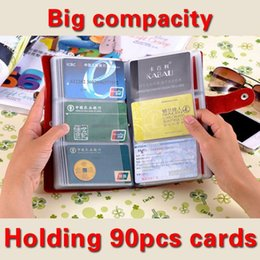 Wholesale 2016 Best Men Women s Card places Genuine Leather Card Holder Big Capacity Bank Credit Name Business Cards Bag Book Gifts