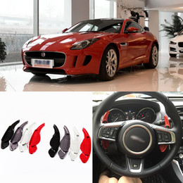 Car Accessories 2pcs New High Quality Alloy Add-On Steering Wheel DSG Paddle Shifters Extension For Jaguar F-TYPE