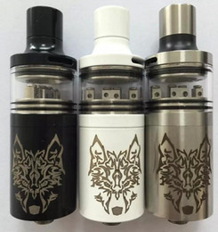 Wholesale Fountain V2 RTA RDA Atomizers snow wolf tank with bottom feeding system steel with glass design mm vaporizer Fit Mechanical box Mods