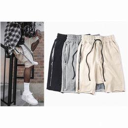 Wholesale-2016 brand Summer Style mem's RO Shorts Hip Hop Fear of god Justin Bieber Love Loose Hight Street Kanye West outerwear shorts