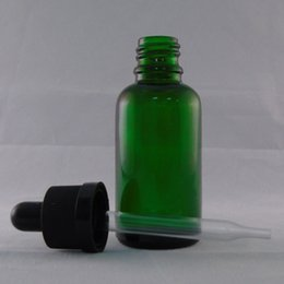 Cheap Dropper Bottles 30ml Green E Liquid Glass Bottle circular with Color Childproof Cap Free shipping