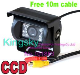 18 IR LED Sensor Car Rearview CCD Reversing Parking Camera 120° for 12V 24V Bus Truck