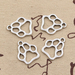 Wholesale CentsDIY Charms dog paw mm Antique pendant fit Vintage Tibetan Silver DIY for bracelet necklace