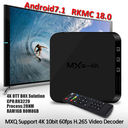 MXQ Android 7.1 TV BOX MXQ 4K Rockchip RK3229 Quad Core 1GB 8GB 4K Streaming Media Player