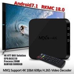 MXQ Android 7.1 TV BOX MXQ 4K Rockchip RK3229 Quad Core 1GB 8GB KD18.0 Fully Loaded 4K Streaming Media Player