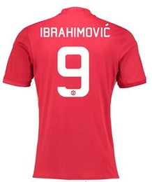 Wholesale Customized Thai news IBRAHIMOVIC Soccer Jerseys Shirt ROONEY Football Jerseys WEAR CARRICK SHALLING Soccer