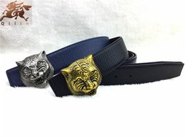Wholesale The new brand G senior antique tiger head buckle the new pattern cowhide belt Men Women