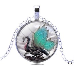 Wholesale 2016 Dragon Air Picture Pendant Necklace Fashion silver plated Statement Chain Necklace Summer Style Fine Jewerly for Women