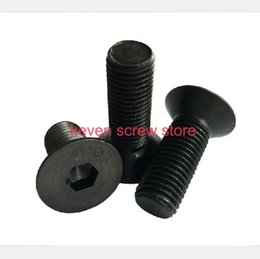 Wholesale M3x6 mm M3 mm flat head countersunk head black grade Alloy Steel Hex Socket Head Cap Screw