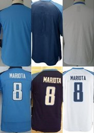 Wholesale 2016 Youth NIK Game Football Stitched Titans Blank Marcus Mariota Light Blue White Dark Blue Jerseys Mix Order