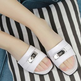Wholesale Classic H brand women formal office lady mother footwear slipper soft comfortable leather shoes FA090