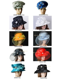 Mix color and style.All Year Around Church Dress Formal Hat Kentucky Derby Hat with Rhinestones band