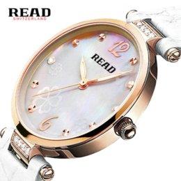 Wholesale 2016 New Top Brand Women Rose Gold Watches READ Elegant Ladies Series Clock Leather Quartz Watch Meters Waterproof