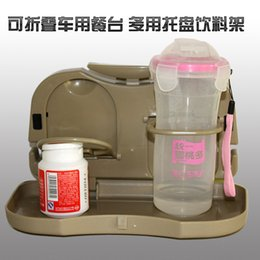 Wholesale Multifunctional automobile folding frame for vehicle plate beverage cup back table