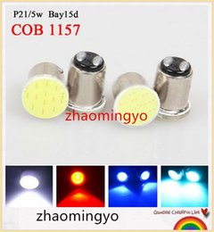 Wholesale NEW S25 P21 W bay15d COB v blue White red Auto led Car RV reactive Bulbs rear Turn signal lamp Brake lights parking