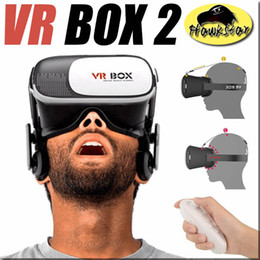 Wholesale Virtual Reality VR BOX D Glass Cardboard Headset For inch inch apple iOS Android WP with Retail box