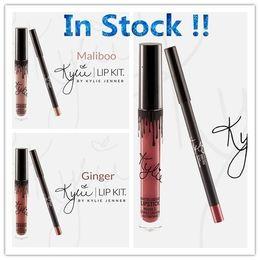 Wholesale in stock colors Kristen Ginger Maliboo Brown Sugar Dity Peach Love Bite KYLIE JENNER LIP KIT Kylie Matte Liquid Lipstick Lip Liner