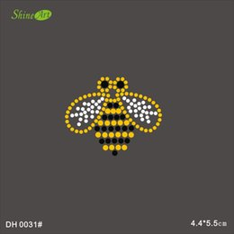 Wholesale Rhinestone Crystal Iron On T Shirt Design Transfer Bee Wasp DIY DH0031