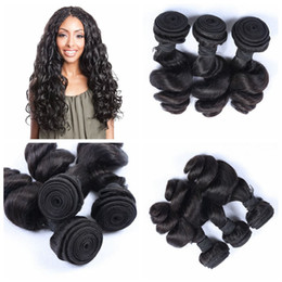 Cheap Indian Loose Wave Unprocessed Indian Human Hair Extension 3Bundles Natural Color 1b# G-EASY hair