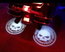 Wholesale motorcycle bike door Led Projector Logo ghost shadow light for harley davidson