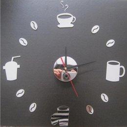 Wholesale 2016 new wall clock quartz watch Modern Acrylic mirror diy clocks Living Room d horloge murale Stickers relogio de parede Mugs TY1949