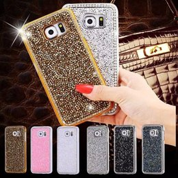 Fashion New Crystal Bling Diamond Plastic Case for Samsung Galaxy Note5 Note 5 Luxury Phone Cover Shell Gold Silver Pink Black