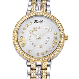 Los mejores relojes de moda de calidad en venta-Marca de lujo caliente Belbi relojes del reloj de señora de las mujeres del movimiento del cuarzo del reloj de alta calidad de la manera ocasional del mejor regalo
