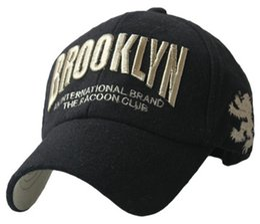 Wholesale 2015 new bone baseball cap season fashion wave of people warm hat letters brooklyn embroidered woolen golf caps gorras