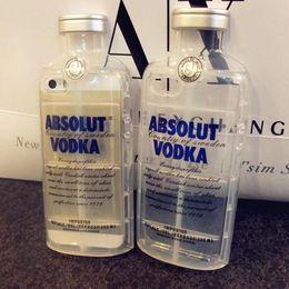 Wholesale 3D Transparent ABSOLUT VODKA Case For iPhone S inch S SE Wine Beer Bottle Design Soft TPU Phone Case Cover MOQ pieces