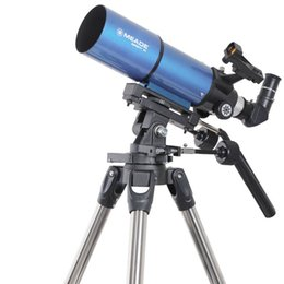 Wholesale New Meade Infinity mm Altazimuth Refractor Telescopes w Red dot Viewfinder Blue W2524L
