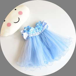 Wholesale Baby Girl Wedding Dresses 3D Stereoscopic Applique Infant Princess 1 Year Birthday Dress Newborn Christening Gowns 6-24M