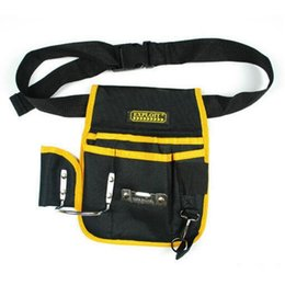 Wholesale Multi function Canvas Waist Tool Bag Portable Electrical Package Toolkit